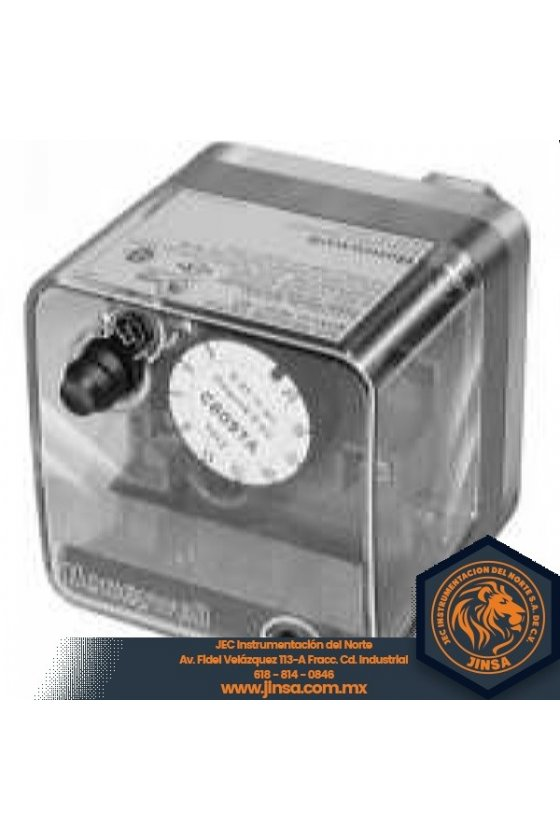 C6097A1038 PRESURETROL 1/4 NPT  12-60 in wc  dif 10-12  reset man  NO c/baja