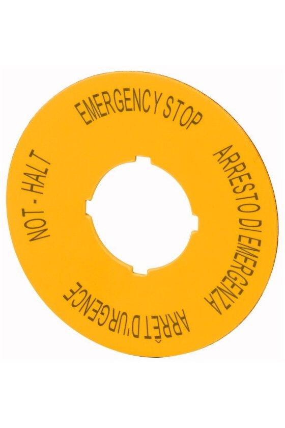 121085 M22-XAK11 Etiqueta, parada de emergencia