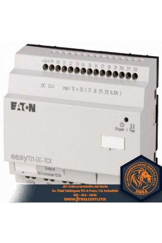 PLC DE 12 ENTRADAS Y 8 SALIDAS ANALOGAS 24VDC EASY721-DC-TCX