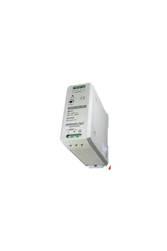 DPS50S05 Fuente de poder 100-240vca salida 5vcd 10A para riel Din.