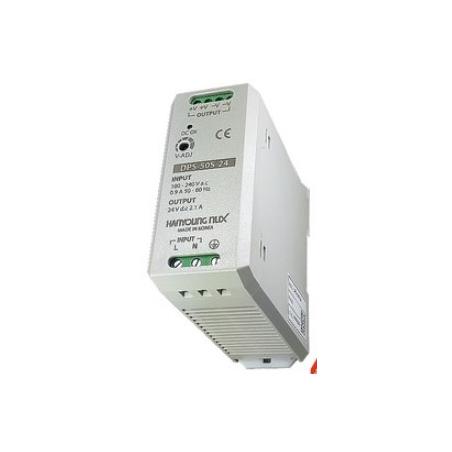 Fuente de poder 100-240vca salida 5vcd 10A para riel Din.