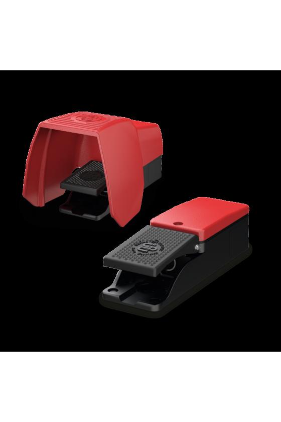6061600006 Pedal metálico sencillo de acción retardada con protección 1NC/1NO F1-U1Z UN