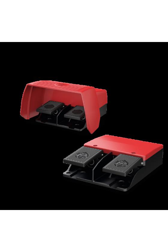6062610014 Pedal doble con protección acción retardada 1NC / 1NO -  1NC / 1NO F2-U1Z/U1Z UN