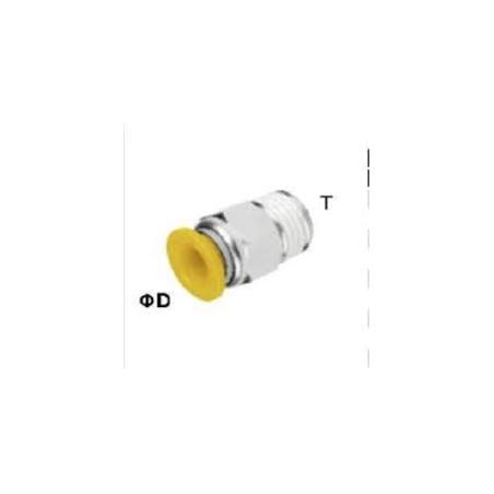 EPC14-04 CONECTOR RECTO TUBO 14MM ROSCA 1/2