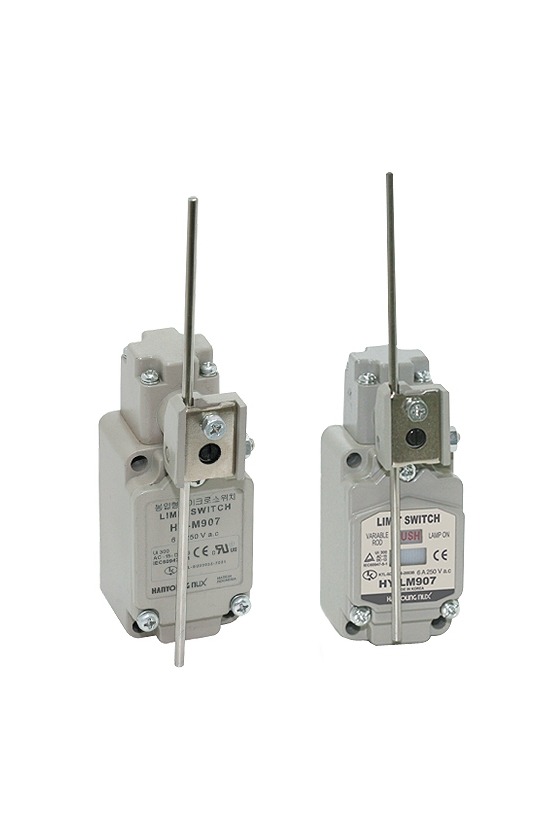 HYM907 Limit Switch con brazo de varilla ajustable contacto 1NA+1NC 6amp