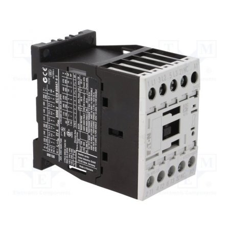 290057 DILM15-10(220V50HZ 240V60HZ) Contactor, 3p + 1N / O, 7.5kW / 400V / AC3