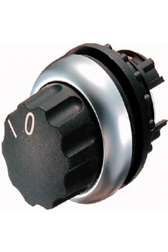 216855 Interruptor selector, 2 posiciones, negro 0 I, mantenido M22-WR