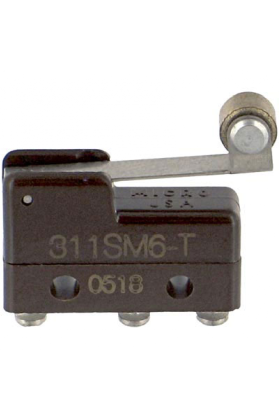 311SM6-T Interruptor básico subminiatura serie MICRO SWITCH SM
