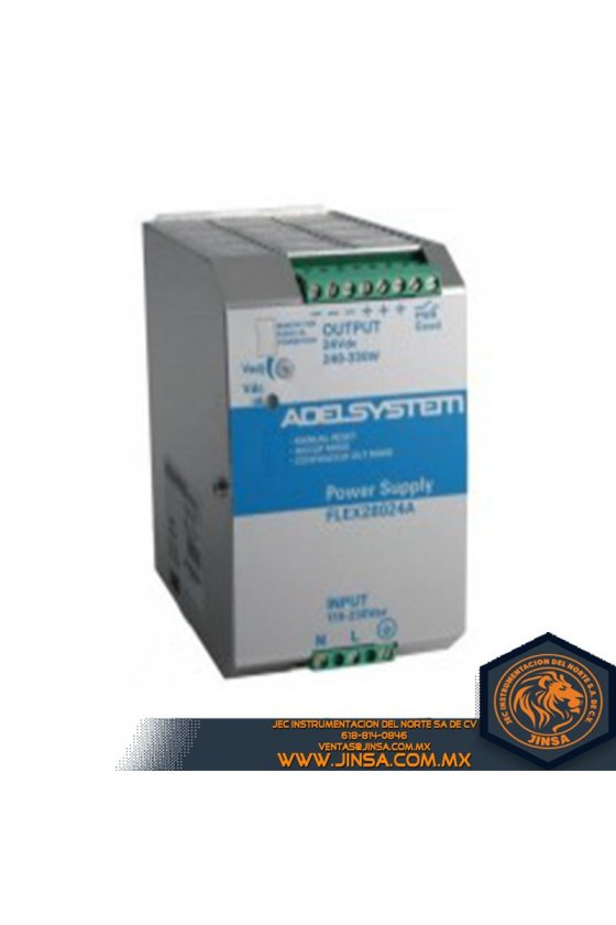 FLEX28024B Fuente de poder 14 Amps/Input 230-400-500VAC/Output 24VDC/2 Fases
