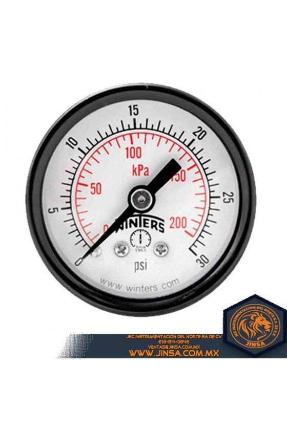 """PFP840R1 VACUOMETRO INOXIDABLE DE PRESION CARATULA DE 2.5"""" MONTADO CONEXION POSTERIOR 1/4"""" NPT"""