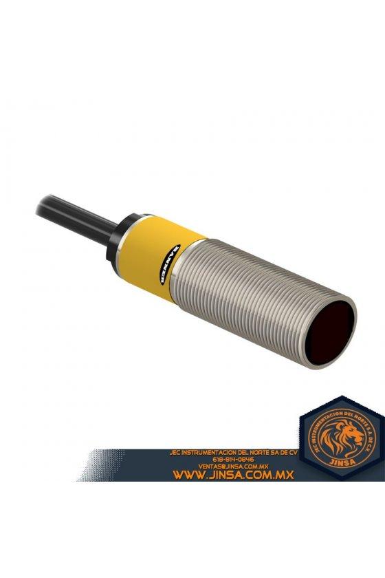 M18SP6D,EZ-BEAM SERIE M18 DIFUSA RGO 100 MM ENTR 10-30V CC SAL COMPLEM PNP 2 M 6.5 PIES CAB,48662