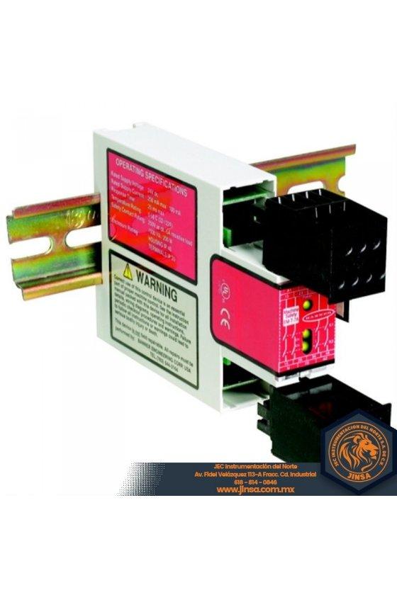 55579 Módulo de relé de seguridad para E-Stop,Voltaje de alimentación 24 V CC o 24 V CA,Entrada ES-FA-6G
