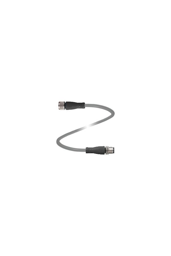098854 Cable de union, M12 sobre M12, cable de PUR de cuatro polos V1-W-2M-PUR-V1-G