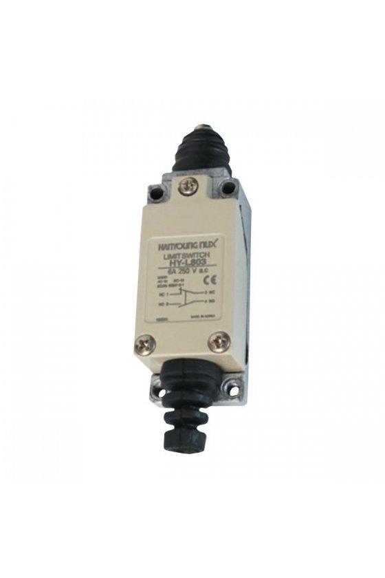 HY-L803 Mini limit Switch con  embolo  contacto 1NA 1 NC 6amp