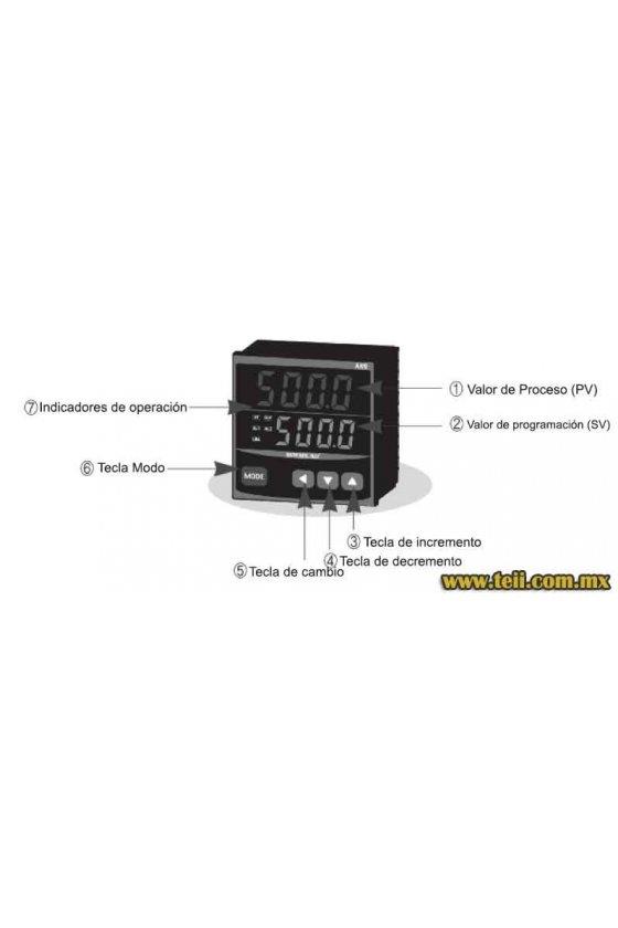 AX9-1BA Control de temperatura digital 1/4 Din 96x96 mm entrada J,K,R,T, PT100 SSR + RELE + 1 NC+ Rel