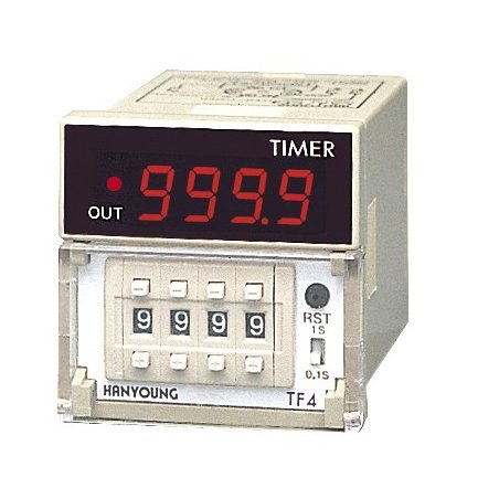 TF4-BUAR Timer 48x48mm 9 minutos 59.9sec-59 minutos -59sec up display 8 Pin 100-240vca salida a Relay