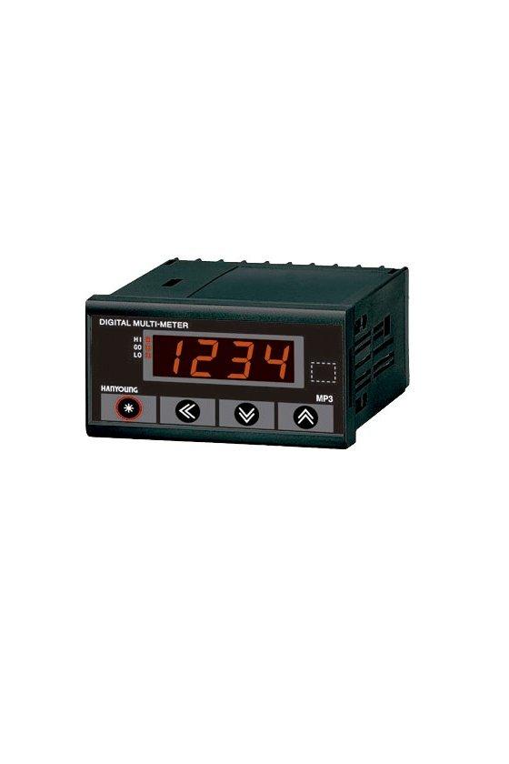 MP3-4NH Frecuencímetro  Indicador 96x48mm 4 dígitos de 1999-9999Hz en 0-500vca alim. 100-240vca