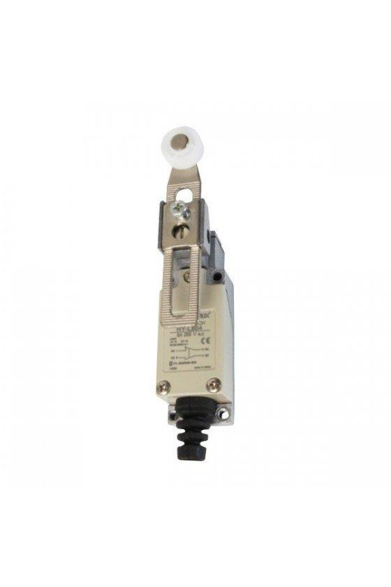 HYL804 Mini Limit Switch con actuador de rodillo contacto 1NA+1NC 6amp