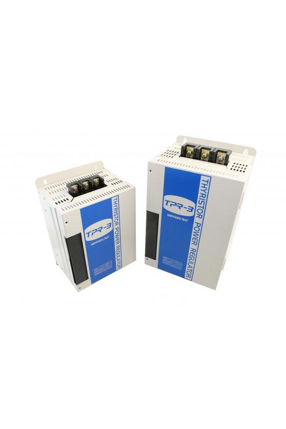 TPR3P220V35A Regulador electronico trifasico de 220vca 35A , input 4-20mA, 0-5vcd de 1-5 vcd-0-10vcd soft start O.T. 1 ALARMA