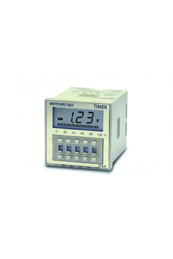 LF4NA Timer LCD 8 pin 48X48mm T. switch multifunción salida 1NA + 1NC inicio con pulso de 24-240vca