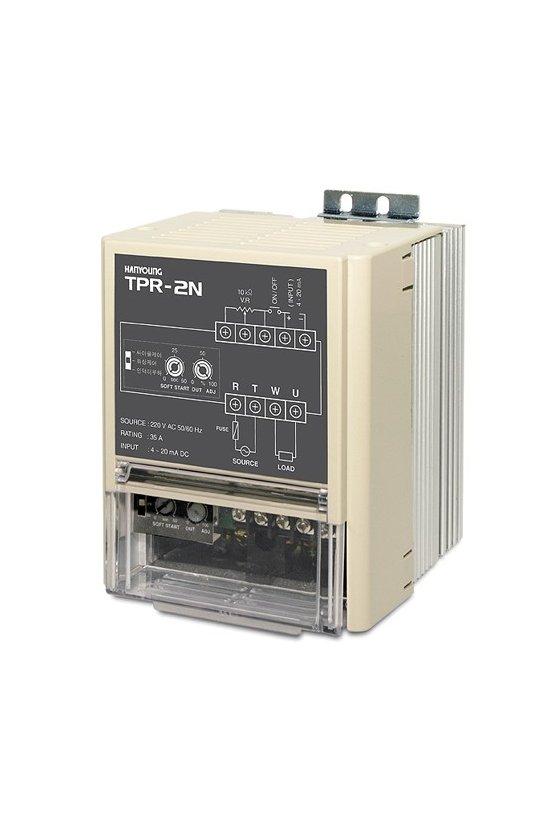 TPR2N110V50AMR Regulador Electrónico de 1 fase en 110vca 50A input potenciómetro, ext./ interno  ON/OFF   4-20mA  1-5vcd