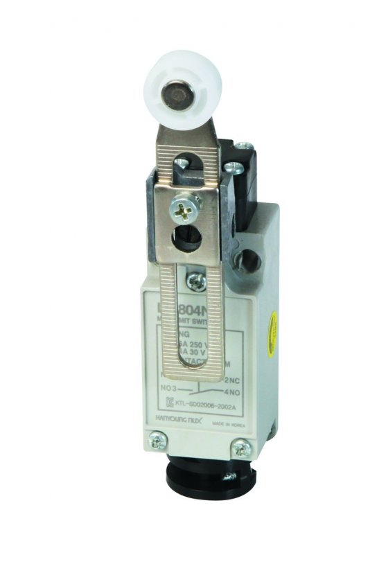 HYLS804N Mini Limit Switch con brazo de rodillo ajustable 1NA+1NC 6amp 250vca