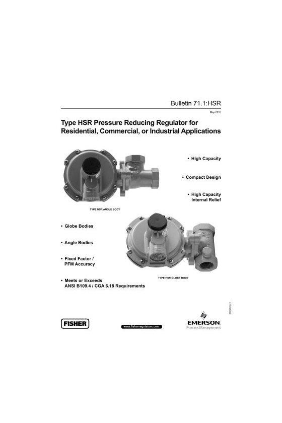 HSR112-5-201-4 REGULADOR DE 1 IN  RANGO 12.5-20 IN WC ORIF 1/4
