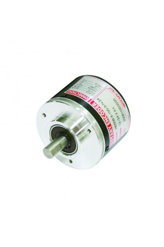 HE50B83003T24 Encoder diam. Ext. 50mm Flecha 8mm  salida A,B,Z Push Pull de 12 - 24vcd 300ppr