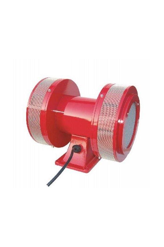SOS02010 SIRENA ELECTROMECANICA 110VCA 123dB A 3MT METALICA ROJO