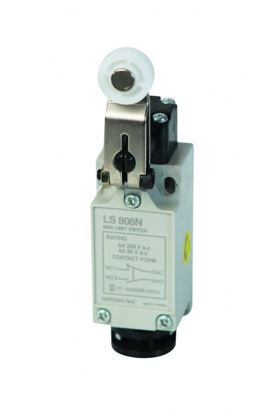 HYL808 Mini Limit Switch con actuador de rodillo fijo contacto 1NA+1NC 6amp