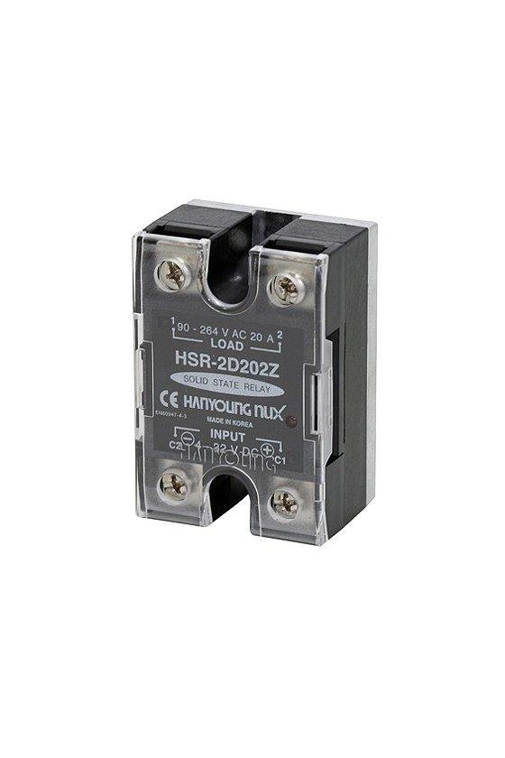 HSR2D402Z Relevador Electrónico  44x64mm entrada 4-32vcd  carga 40amp de 90-264vca