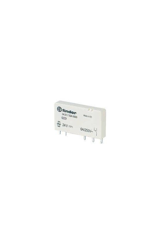 34.51.7.024.0010 Series 34 - Mini-relé para circuito impreso (EMR ó SSR) 0.1-2-6 A
