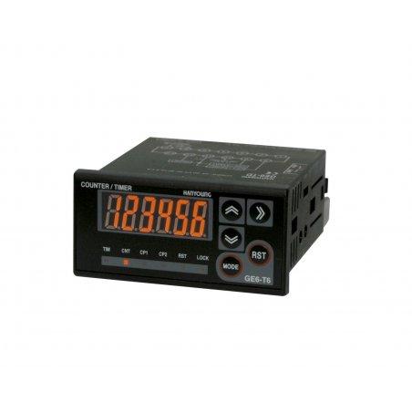 GE6T6A Contador Totalizador de 72x36mm 6 dígitos 100-240vca  input NPN-PNP
