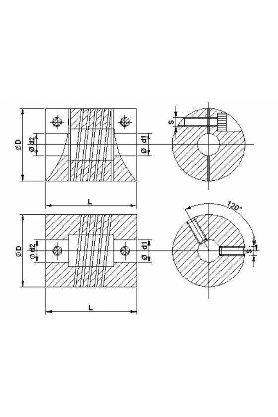 RC08 Couple  para encoder 8mm