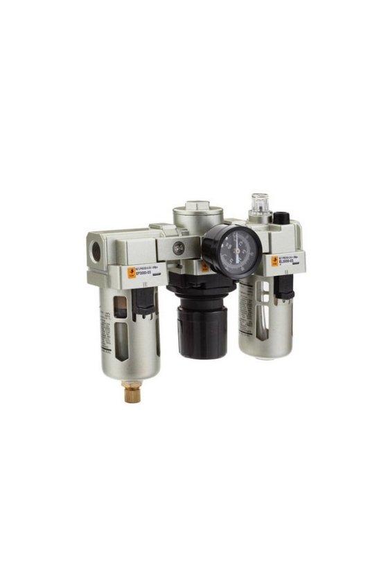 EC5000-105 FILTRO REGULDOR LUBRICADOR 1 CON MANOMETRO   DRANADO MANUAL 6500 L/MIN