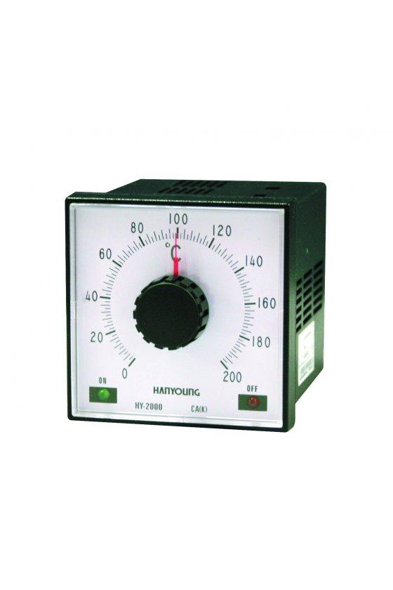HY2000PJMNR07 Control de temperatura análogo 0-400ºC  96X96mm control proporcional   entrada J salid