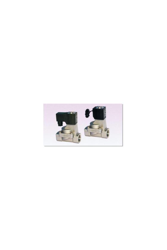 """2L030-08AT Válvula solenoide 2 vías 2 posiciones puertos de 1/4"""" cuerpo de latòn 220V.C.A  . INOX. VAPOR"""