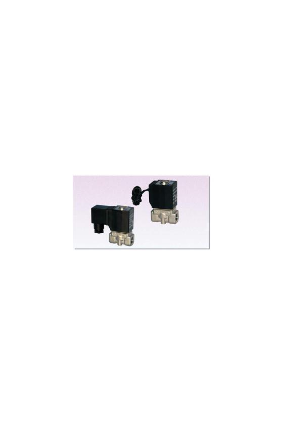 """2L030-08BT Válvula solenoide 2 vías 2 posiciones puertos de 1/4"""" cuerpo de latòn 24V.C.D  . INOX. VAPOR"""