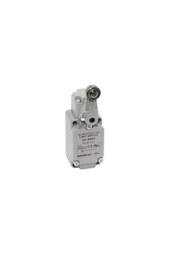 HYM908 Limit Switch con brazo de rodillo fijo contacto 1NA+1NC 6amp