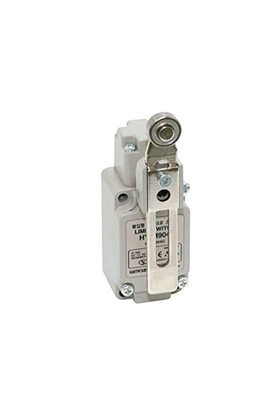 HYM904 Limit Switch con brazo de rodillo ajustable contacto 1NA+1NC 6amp