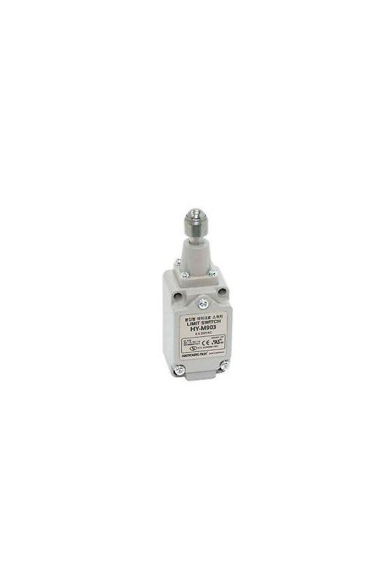 HYM903 Limit Switch con embolo de balín contacto 1NA+1NC 6amp