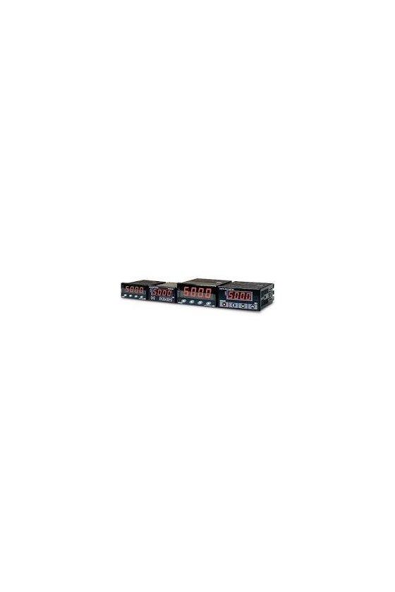 MP34AA0A Amperímetro  con  3 salidas (HI, GO, LO) 4-20mA   AC 4 dígitos 96x048mm rango 5, 50,500vca alim. de 100-240vca