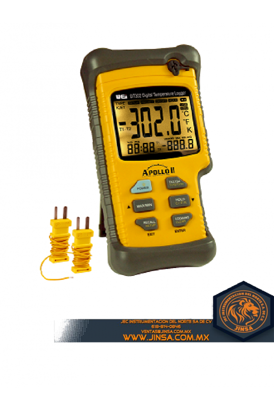 DT302 DUAL INPUT LOGGING THERMOMETER