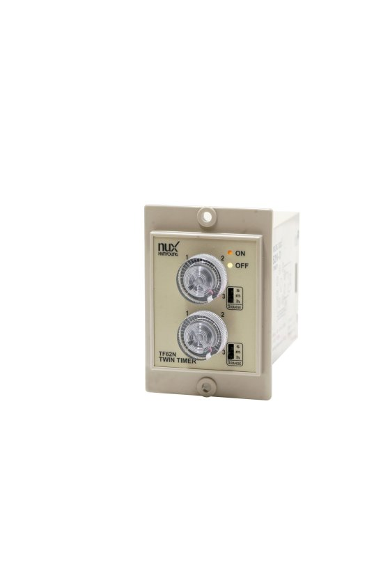 TF62NP60D Timer Doble tiempo 58x84mm 60seg/60min/60hrs con 1 contacto salida 24-240vca-vcd