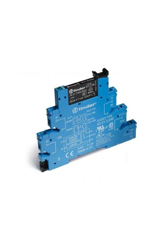 38.51.0.012.0060 Series 38 - Interfaces modulares con relé (EMR o SSR) 0.1-2-6-8 A