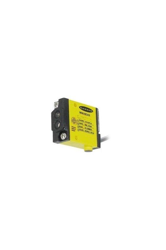 26892 Sensor Fotoeléctrico, Mini Beam®, Serie SM312, Difuso Divergente, 130 mm, 10 Vcd a 30 Vcd SM312WQD