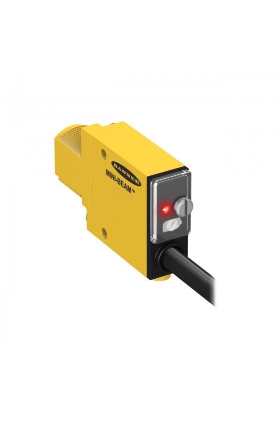 25776 Sensor Fotoeléctrico, Serie SM312, Mini-Beam, Retroreflectante, 2m, NPN/PNP, 10-30Vcd, Precableado SM312LVAG