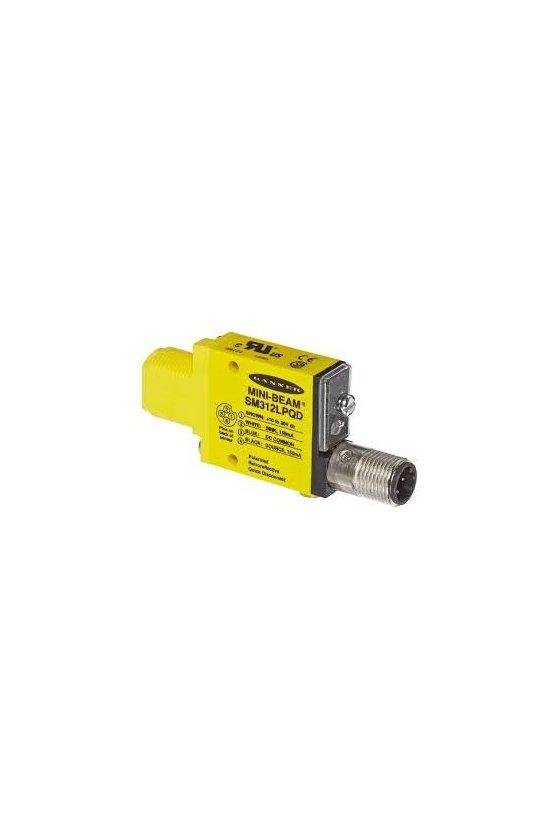 49771 Sensor Fotoeléctrico, Serie SM312, Mini-Beam, Retroreflectante, 3m, NPN/PNP, 10-30Vcd, Conector SM312LPQD