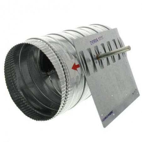 D690A1010 Damper redondo de una sola hoja de 8 pulg