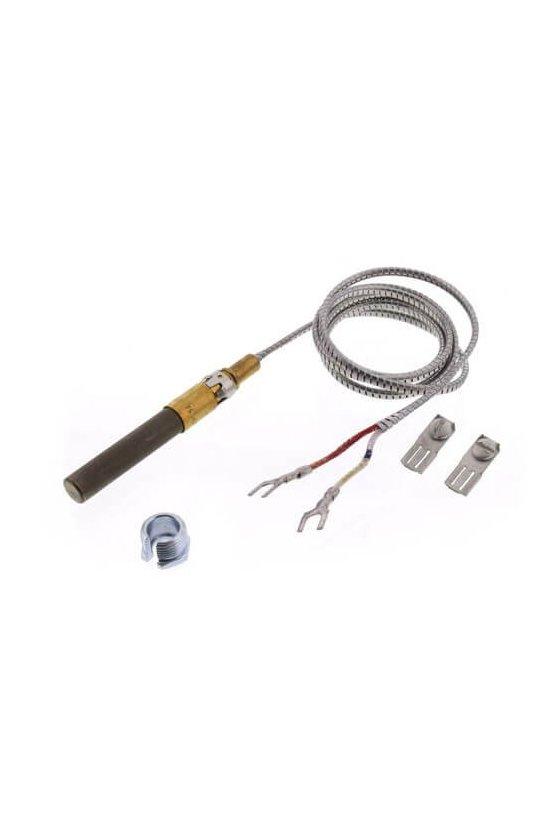 "Q313A1188 Termopila de 750 mV, 35 ""de largo. Con clip de presión y tuerca dividida."